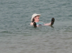 floating in the Dead Sea on a cool January day in 2008