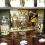 In the pharmacy - the amazing thing was everything was intact from 1960 when they shut it down!