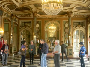 One of the palace rooms with a few of our fellow travelers.