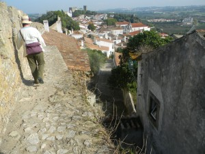 On the ramparts - notice no edge....