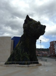 The Puppy  - located on one side of the Guggenheim...made from fresh planted flowers!