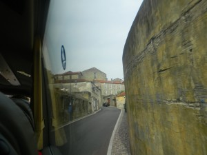 Tiny roads that our bus driver got us through (full size bus) on the hill up to the Port storage and tasting rooms.