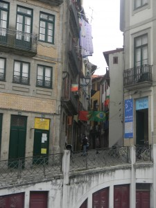 A side street we spotted as we were walking around Porto