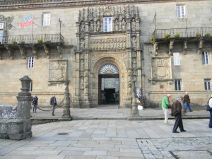The front of our Parador in Santiago