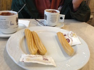 Churros and Chocolate - best afternoon snack ever!