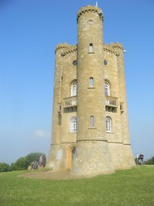 The Broadway Tower! The vista is gorgeous - worth the climb. You can go inside the tower.